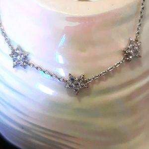 .925 sterling  Triple Star Bracelet